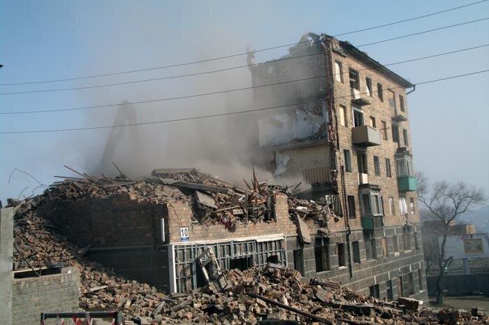 Снос дома по ул. Луцкого 10