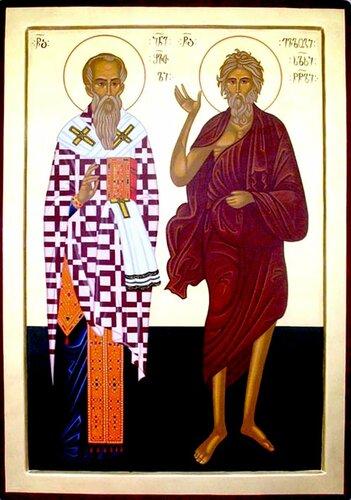 Святые Преподобный Иоанн Шавтели и Евлогий юродивый.