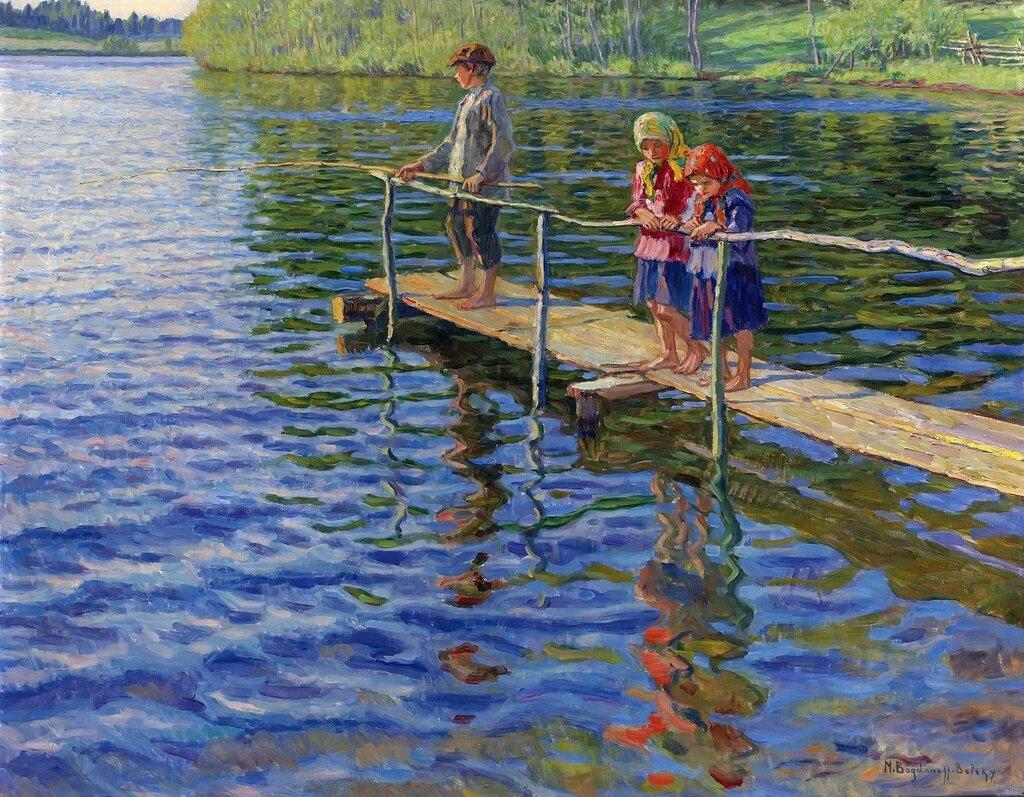 Рыбалка на реке Частная коллекция70х88
