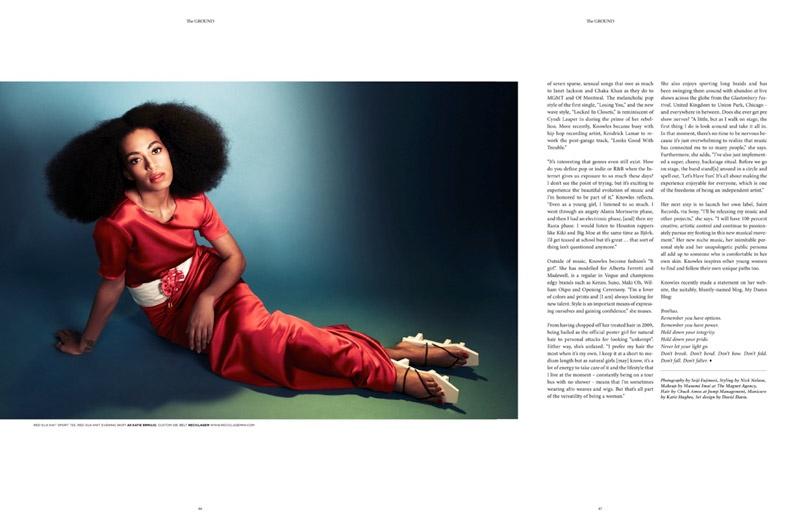 Solange Knowles в новом номере The Ground (6 фото)