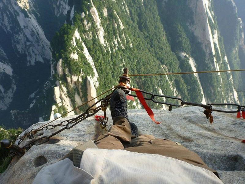 Гора Хуашань со второго века до нашей эры является одним из важнейших мест для даосов — тогда у ее п