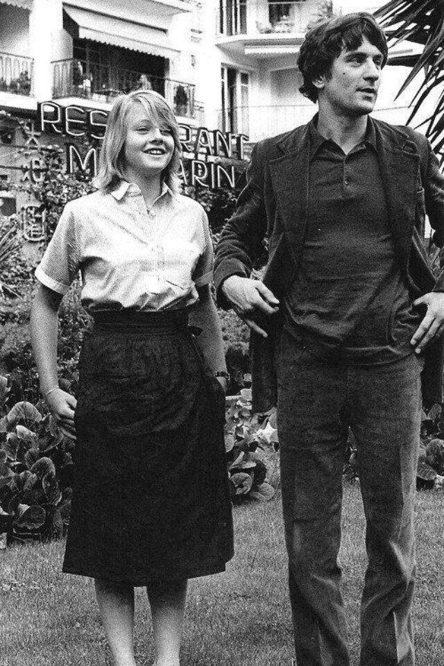1976. Джоди Фостер и Роберт де Ниро на съемках  «Таксиста»