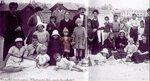 Анна с сестрой Мариной и няней Наташей в Финляндии среди других беженцев из России. 1922 год