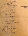 """Подлинник """"Песни партизан"""" на французском языке, вариант Мориса Дрюона и Жозефа  Кесселя"""