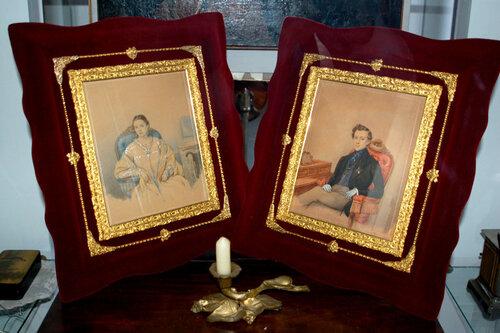 Предки Анны Марли - Любовь Кузьминична (1824-1906) и Николай Дмитриевич Алфераки (1815-1860)