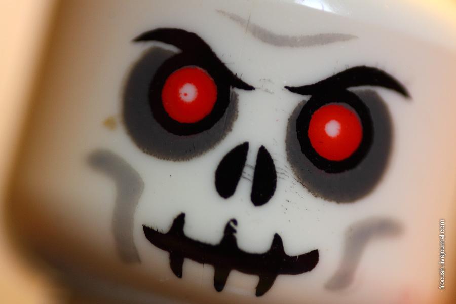Голова скелета. Минифиг. Лего.