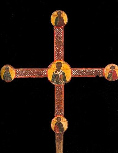 Крест выносной (запрестольный) Заозерье. Начало XVI в. Реверс