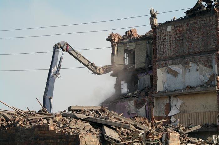 Снос дома по ул.Луцкого 10