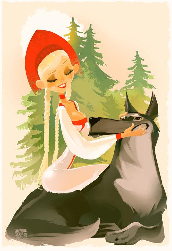 иллюстрации Оtto von Todd,Царевна унд серый волк