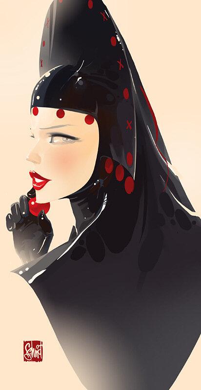 иллюстрации Оtto von Todd,славянка