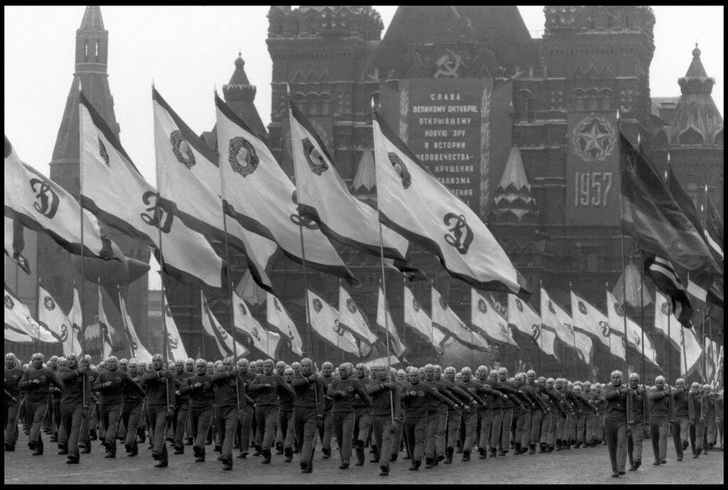 USSR. Moscow. 1957. Parade in Red Square for the 40th anniversary of the Bolshevik Revolution .jpg