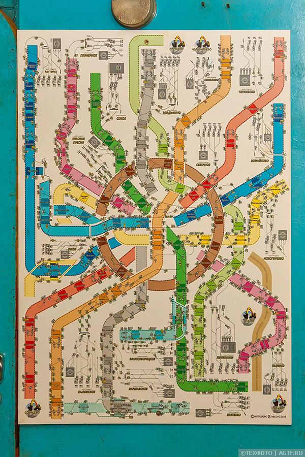 Схема путей метрополитена и