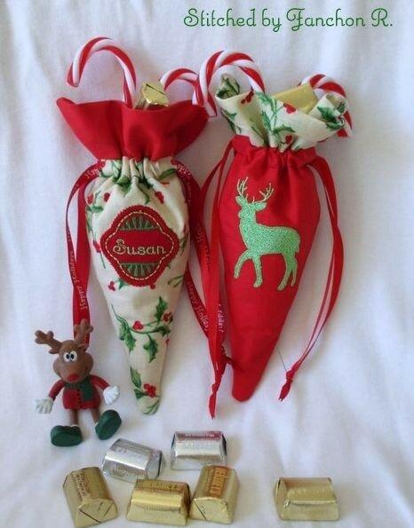 Конусные упаковки для новогодних подарков