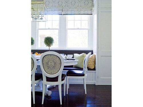 интерьер кухня-столовая в коттедже