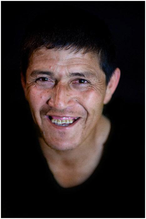 фотопортрет дворника Мухамеда. Узбекистан.