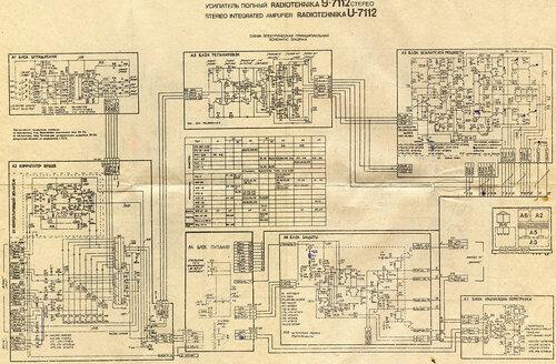 Схеми на усилитель у-7112