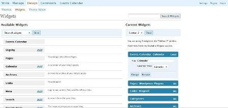 Плагин для WordPress Events Calendar, календарь для WordPress