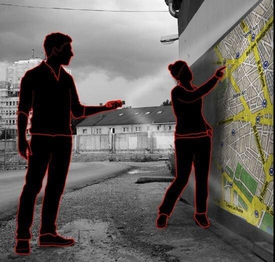 Проекционный фонарик с GPS-проецированием.