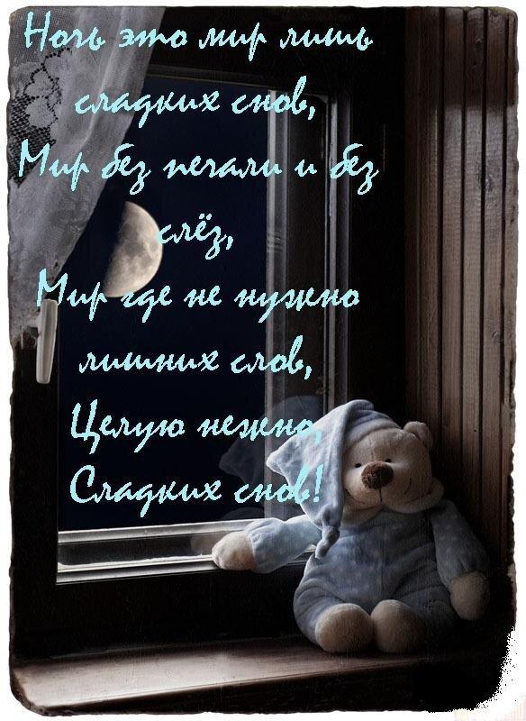 Днем, открытка целую доброй ночи