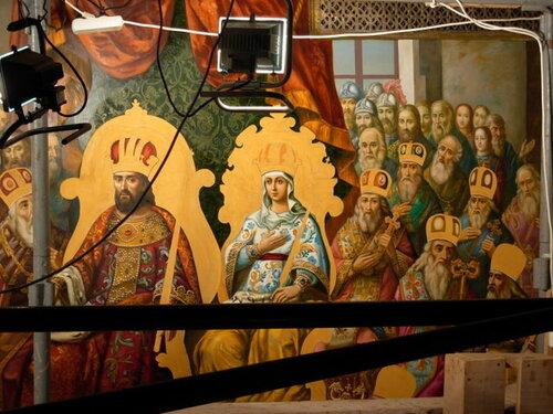 Роспись храма, Успенский собор киево печерской Лавры, киев, церковная живопись