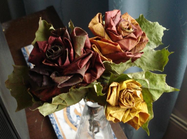 Сделать осенние цветы своими руками фото 345