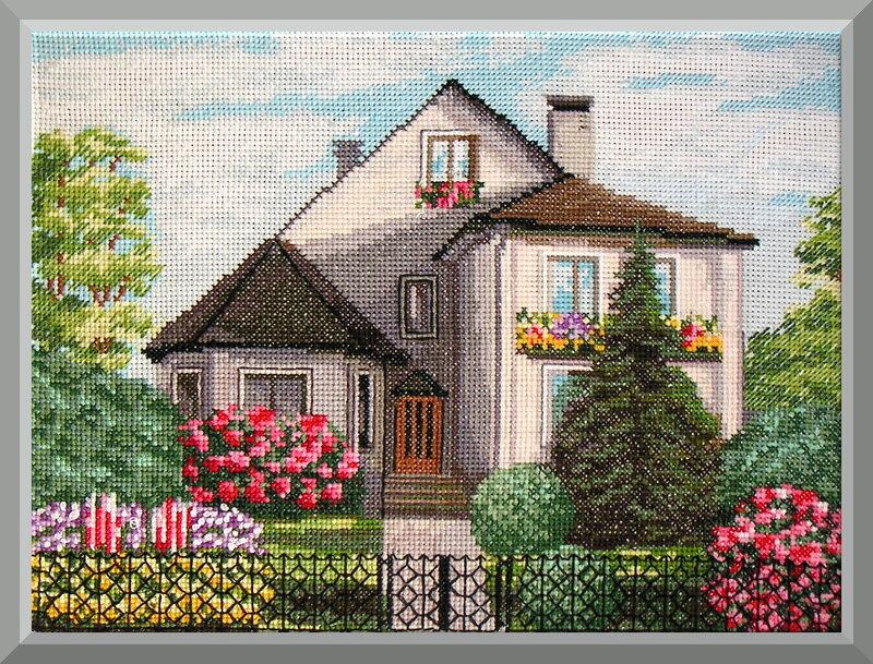 Схемы вышивок домов 9