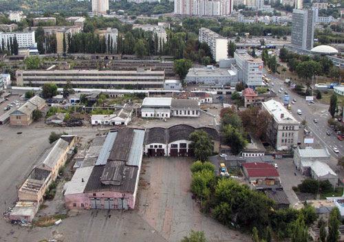 Финал Красноармейской - остатки троллейбусного депо, Лыбедская площадь