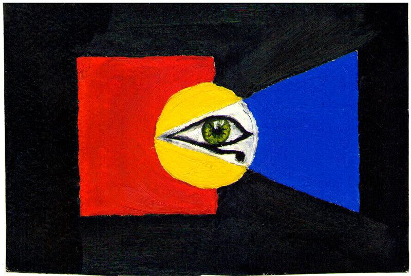 """Картина маслом """"Всевидящее око"""" (c) http://pashaman.livejournal.com"""