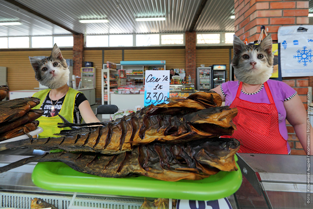 продавцы Астраханского рыбного рынка