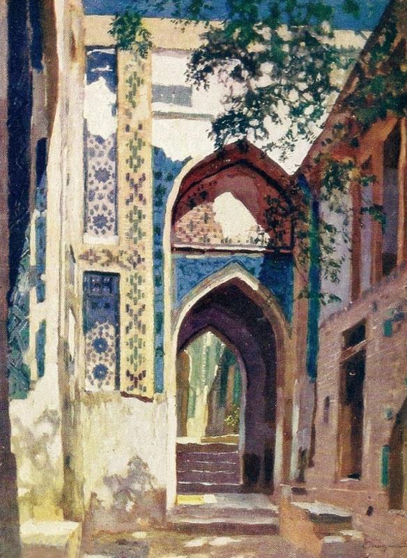 Самарканд. Вход в мечеть Шахи-Зинда 1921.jpg