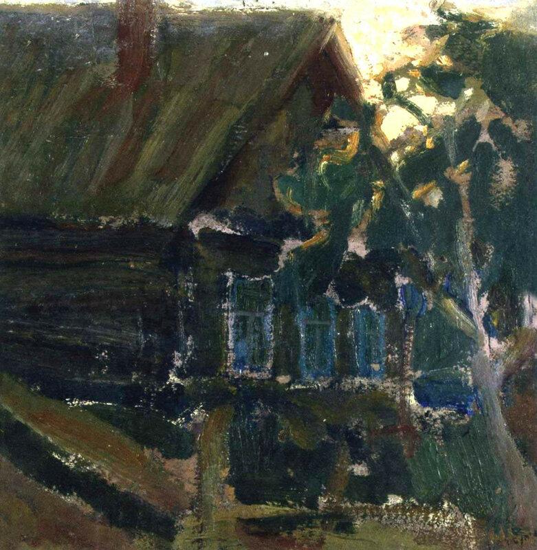 Сельский пейзаж . 1915.jpg