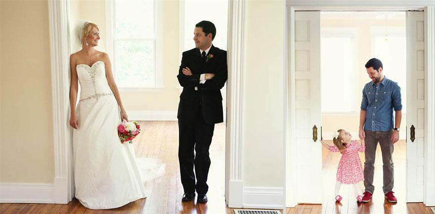 2. Эти фотографии — и во время свадьбы, и после кончины Али — делала сестра Али Мелани. Слева: Бен и