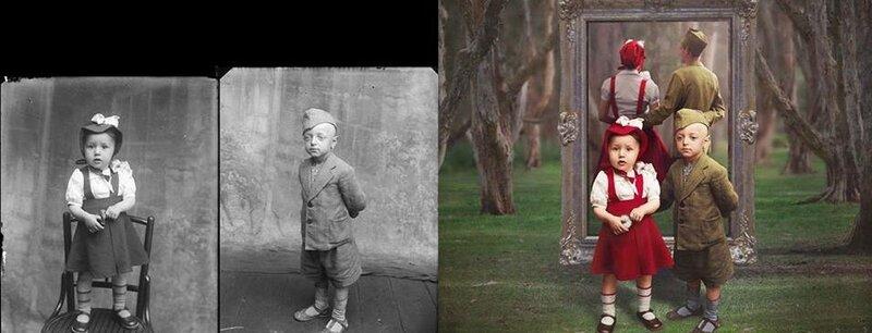 Красная шапочка и бравый солдат в детстве и в юности