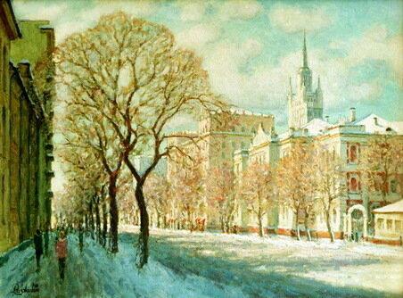 Первый снег. Садово-Кудринская ул.