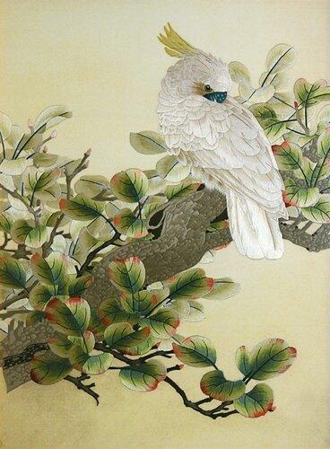 ВЫШИВКА. Схемы вышивки попугай
