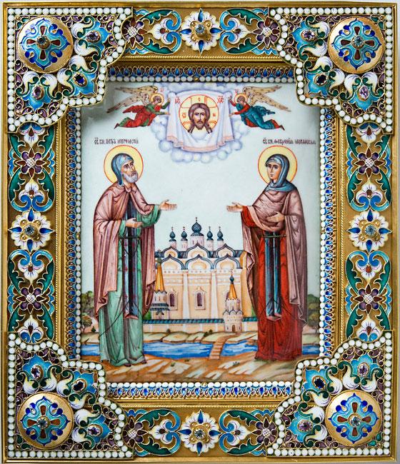икона святых петра и февронии: