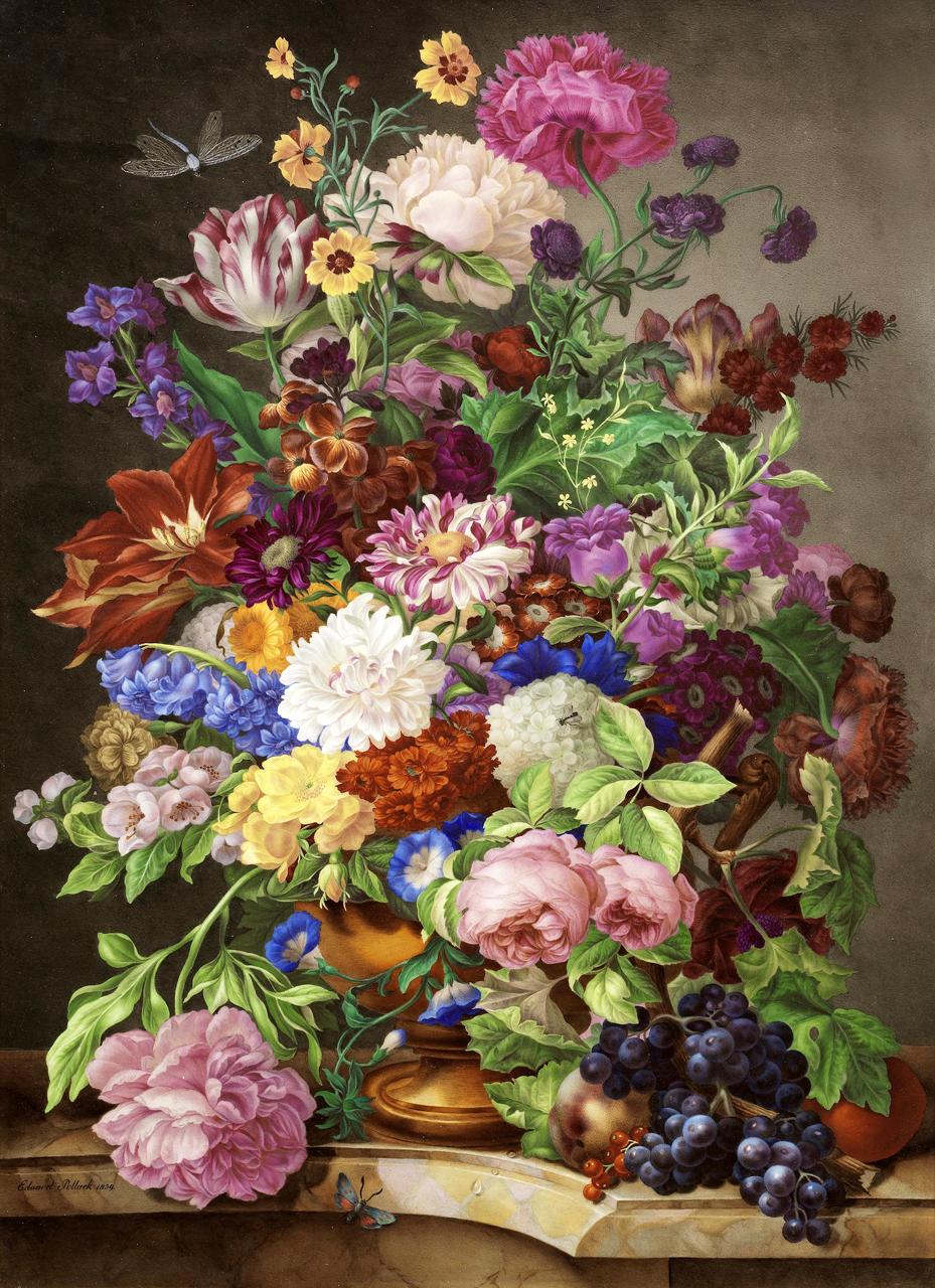 Картины с цветами старые