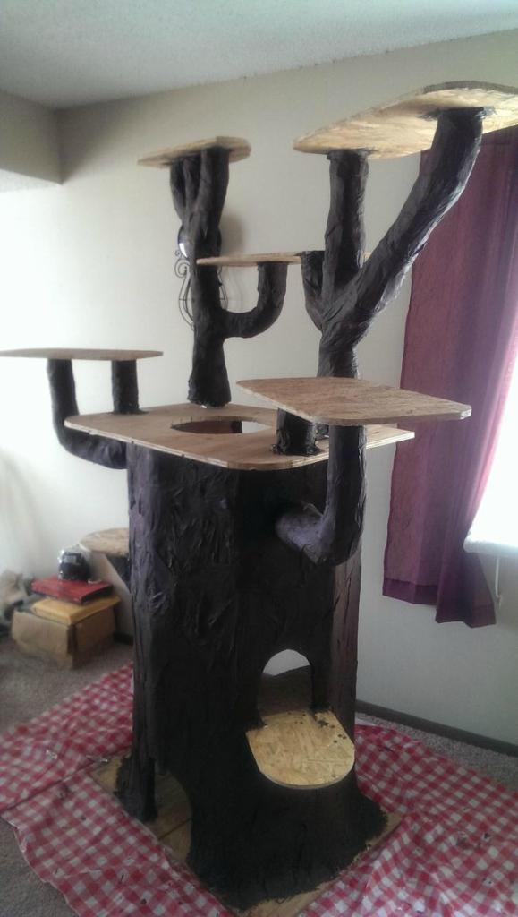 как сделать игровой домик для кошки