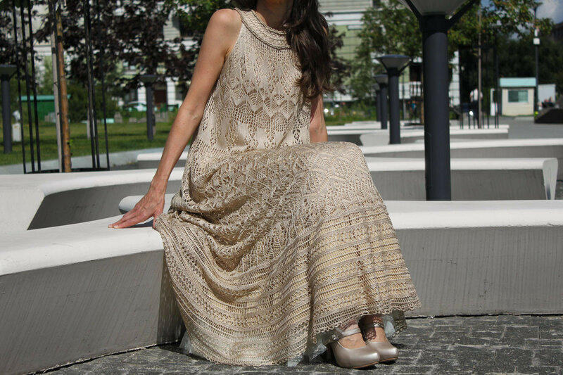 Lacelegance. Вязаное шелковое платье.