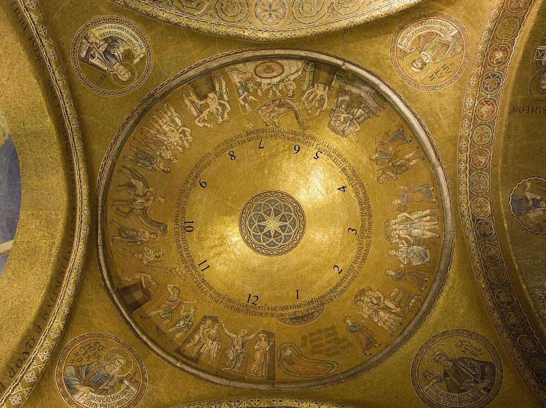 Один из трех куполов Иосифа в нартексе Собора Святого Марка, Венеция