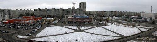 Курган - первый снег 2009, панорама