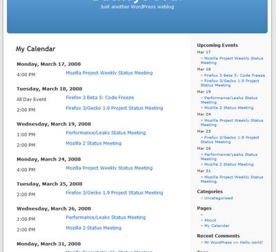 wpng-calendar от  Google