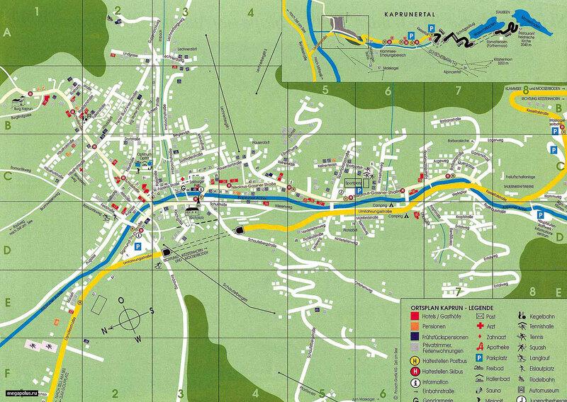 Вот схема города: