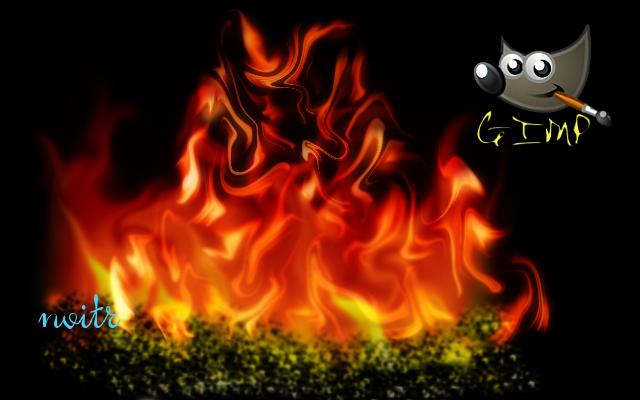 Создаём огонь в GIMP. - Форум - GIMP на BNKSB