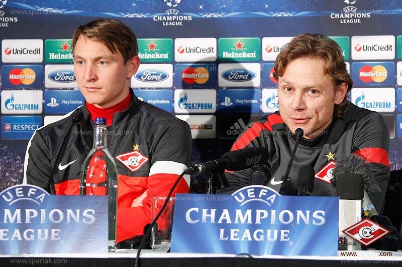 Пресс-конференция и тренировка «Спартака» в Глазго (Фото)