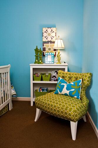 голубая спальня дизайн интерьера