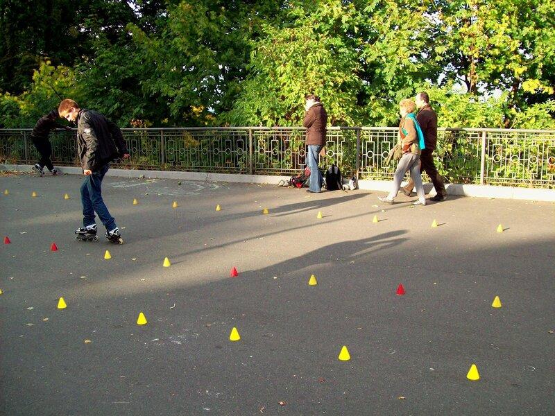 Тренировка на роликовых коньках