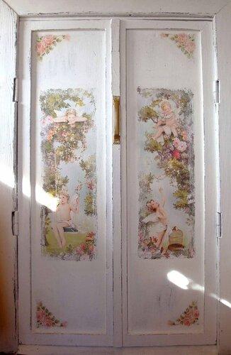 по декупажу и декорировать дверь на.