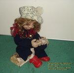 Мышонок на ладошке, текстиль.