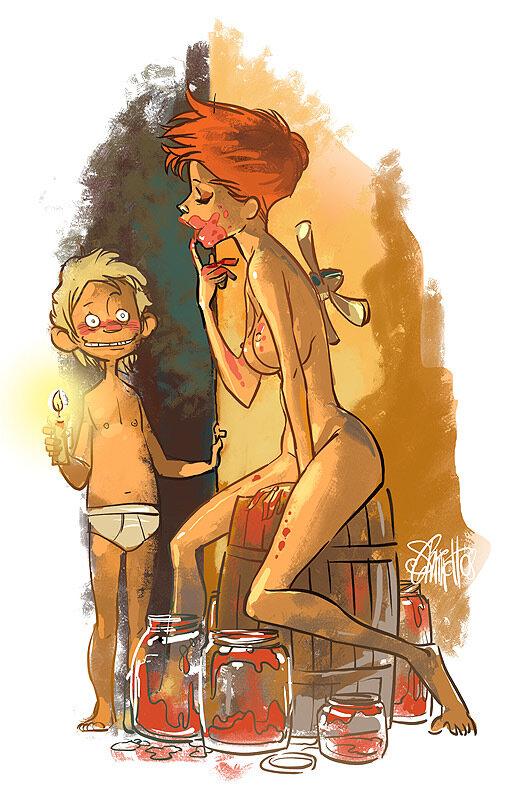 иллюстрации Оtto von Todd. Малыш и фрау карлсон